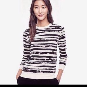 Nwot! ANN TAYLOR SEQUIN Sweatshirt SWEATER